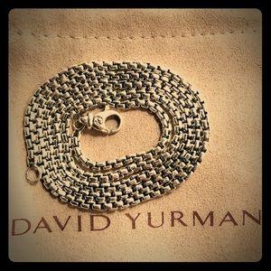 "David Yurman 24"" Sterling Silver BoxChain Necklace"